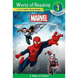 [Brand New] World of Reading: Marvel 3-In-1 Listen-Along Reader (World of Reading Level 1)  3 Tales of Action with CD!  By: Marvel Book Group