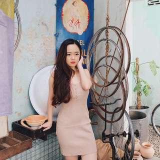Knit Nude Dress