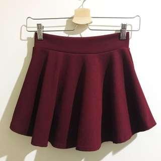 🚚 超美酒紅傘狀裙
