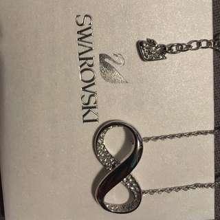 Swarovski necklace with care card