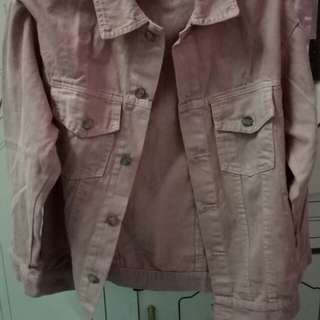 ZARA OVERSIZED DENIM JACKET PINK (replika)