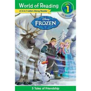 [Brand New] World of Reading: Frozen Frozen 3-In-1 Listen-Along Reader (World of Reading Level 1)3 Royal Tales with CD!  By: Disney Book Group
