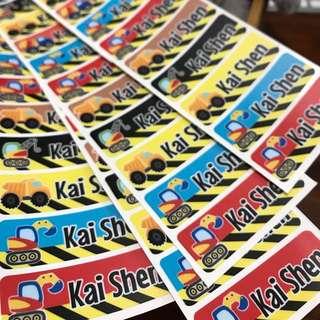 Waterproof school label stickers nursery preschool kindergarten