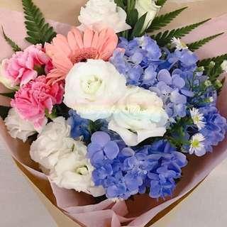 Daisies  Eustomas  Hydrangea Carnations Gerbera - Bespokebloom