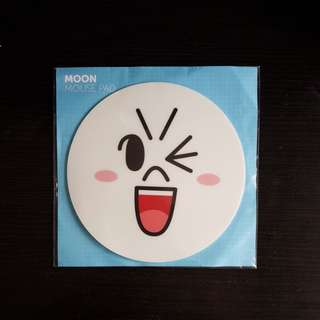 BN Line Moon Mouse Pad