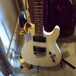 gitar cort electric + ampli roland cube