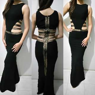 PREMIUM Dress / sexy black dress ala cleopatra