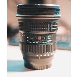 Tokina 11-16 f2.8 Nikon Mount