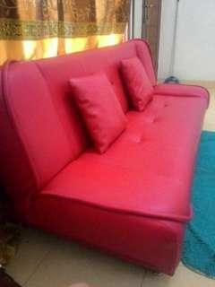 Sofa Bed Merah