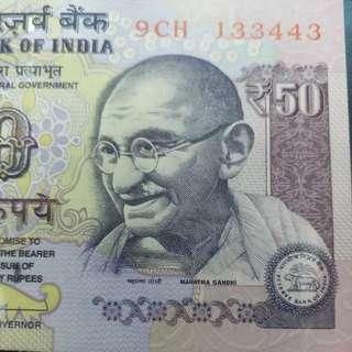 2012年 亞洲 印度50盧比 133443 全新直版