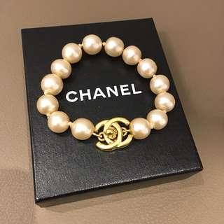 Chanel Vintage 珍珠 CC Turnlock手鍊