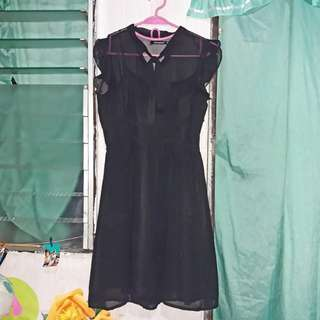 Atmosphere Black Dress with inner camisole