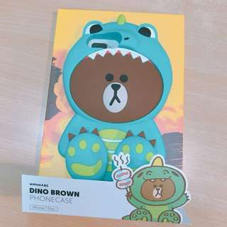 Line Friends Brown 熊大 恐龍 iPhone 7 Plus 8 plus 手機殻 phone case