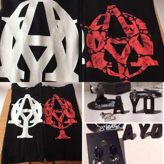 Last PCS Each Left Ayo Shirt Black Red Ear Ring