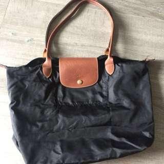 Longchamp large bag with long handles