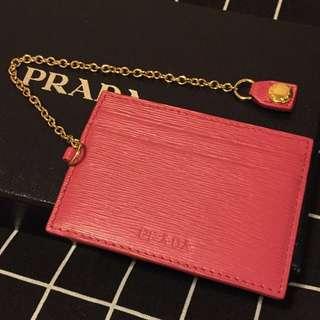 Prada 桃紅色 Card holder 卡片套 有相位