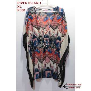 River Island Aztec Printed Sheer Coverup