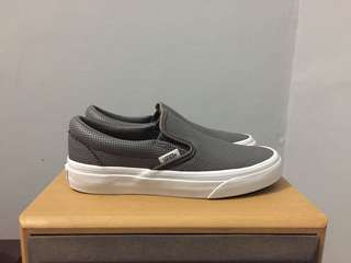 Vans classic slip on perforated leather grey