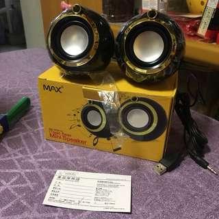🆕全新電腦喇叭📣USB mini speaker