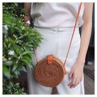 [INSTOCK] Mini Round Rattan Bag