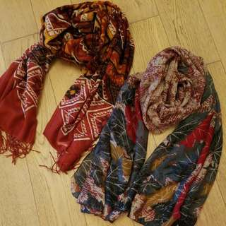 春裝民族款頸巾 絲巾