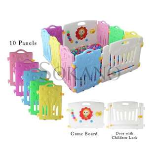 RENT SOKANO 10 Panels Baby Safety Play Yard
