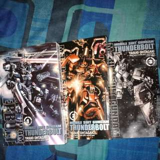 mobile suit gundam thunderbolt manga volume 1-3