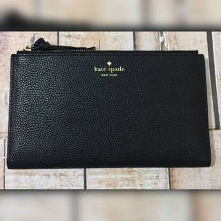 Ks Katespade Malea Mulberry Wallet in Black Original Authentic