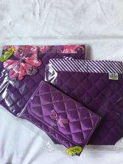NaRaYa handbags & cosmetic bag w/ mirror