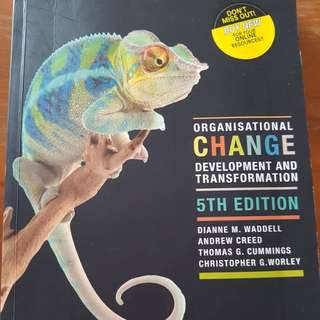 Organisational Change Development and Transformation 5th Edition