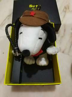 Snoopy soft toy power bank with hook