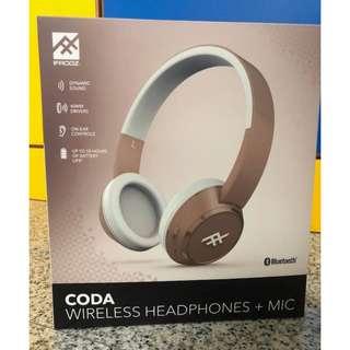 IFROGZ CODA Wireless Headphone with Mic (Light Pink Colour)