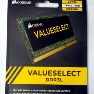 Corsair Memory Laptop 4GB (1x4GB) Value Low Voltage DDR3L