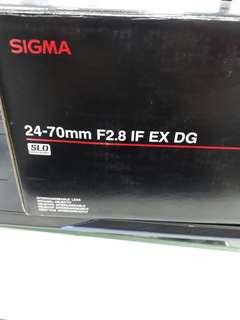 Sigma 24-70mm F2.8 IF EX DG
