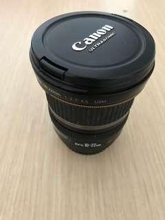 Canon 10-22 lens