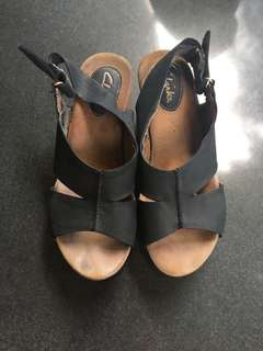 Leather Wedges Clarks