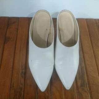 🚚 白色 低根懶人鞋