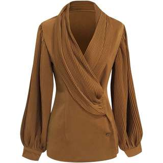 🔱 Pleated crepe empower blouse