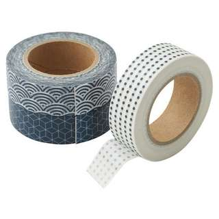 Muji Tape Blue Pattern
