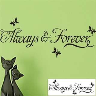 Always and Forever Stickers Removable Wall DIY Vinyl Decals