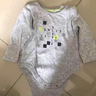 Mothercare Grey Bodysuit
