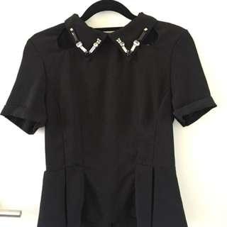 Sabo Skirt Peplum Top size 6