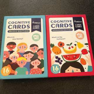 2-4Y NEW Cognitive Flash Cards 2x bundle