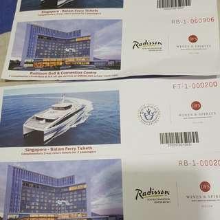 4 PAX BATAM 2 WAY ferry tickets plus HOTEL STAY AT RADISSON