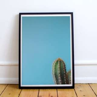 Cactus Corner Digital Print / Poster, Inspirational, Motivational, Minimalist, Wall Decor