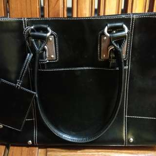 Wilsons Leather Black Bag