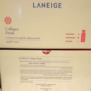 🈹🈹🎀🎀laneige collagen drink 30ml x 10 bottles (1 box)  qty: 12 boxes