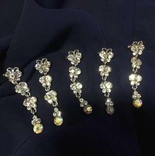 5 Long butterflies pin brooches