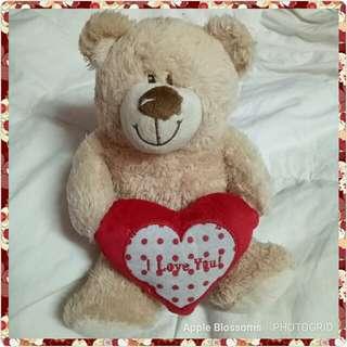 Bear with ILY heart