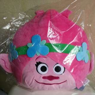 Brand New Trolls Plush Toy Princess Poppy Cushion